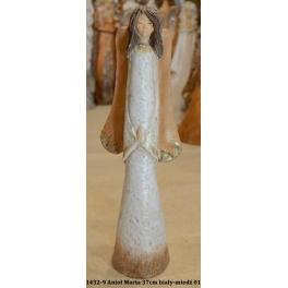 1432-9 Anioł Marta 37cm biały-miedź