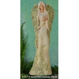 1457-9 Anioł MIA zielony 38cm 01