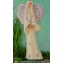 1441-9 Anioł Viola skrzydła okrągłe fiolet 33cm
